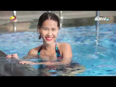 SỞ THÍCH NGÔI SAO - My Trần vs Quang Thái so tài bơi lội