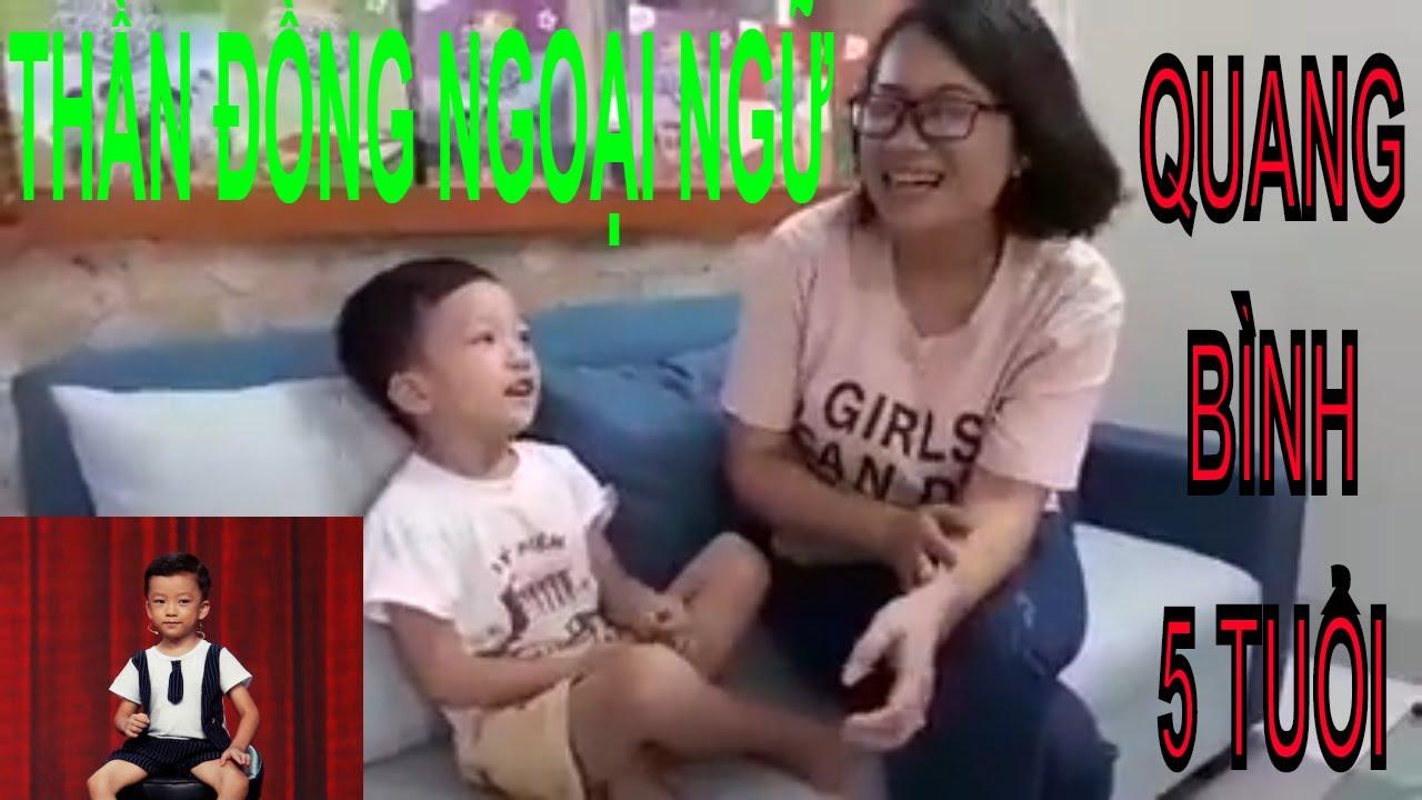 ☀ Biệt tài tí hon Quang Bình 5 tuổi ☀, Thần đồng Ngoại ngữ   Tư duy ngôn ngữ Tiếng Anh siêu đỉnh, P2
