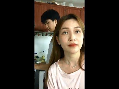 ca sĩ Sĩ Thanh cùng người yêu Hot Boy vào bếp nấu ăn