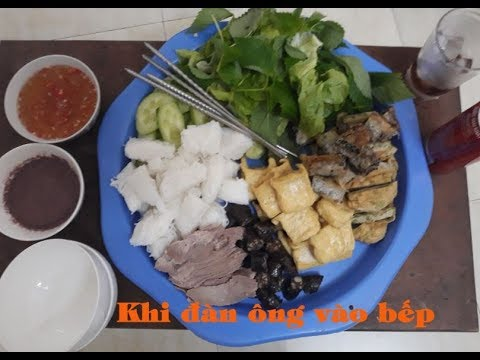 Bún Đậu Mắm Tôm - Khi Đàn Ông Vào Bếp | Tuyền Béo Vlogs