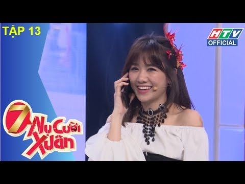"""HTV 7 NỤ CƯỜI XUÂN   """"Ừ, Trấn Thành mặc chung váy ngủ với Hari""""   7NCX #13 FULL   10/3/2018"""