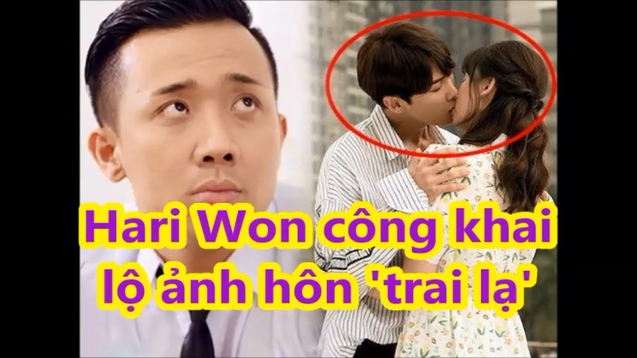 Phản ứng của TRẤN THÀNH khi HARI WON công khai HÔN trai lạ#tinhot24h