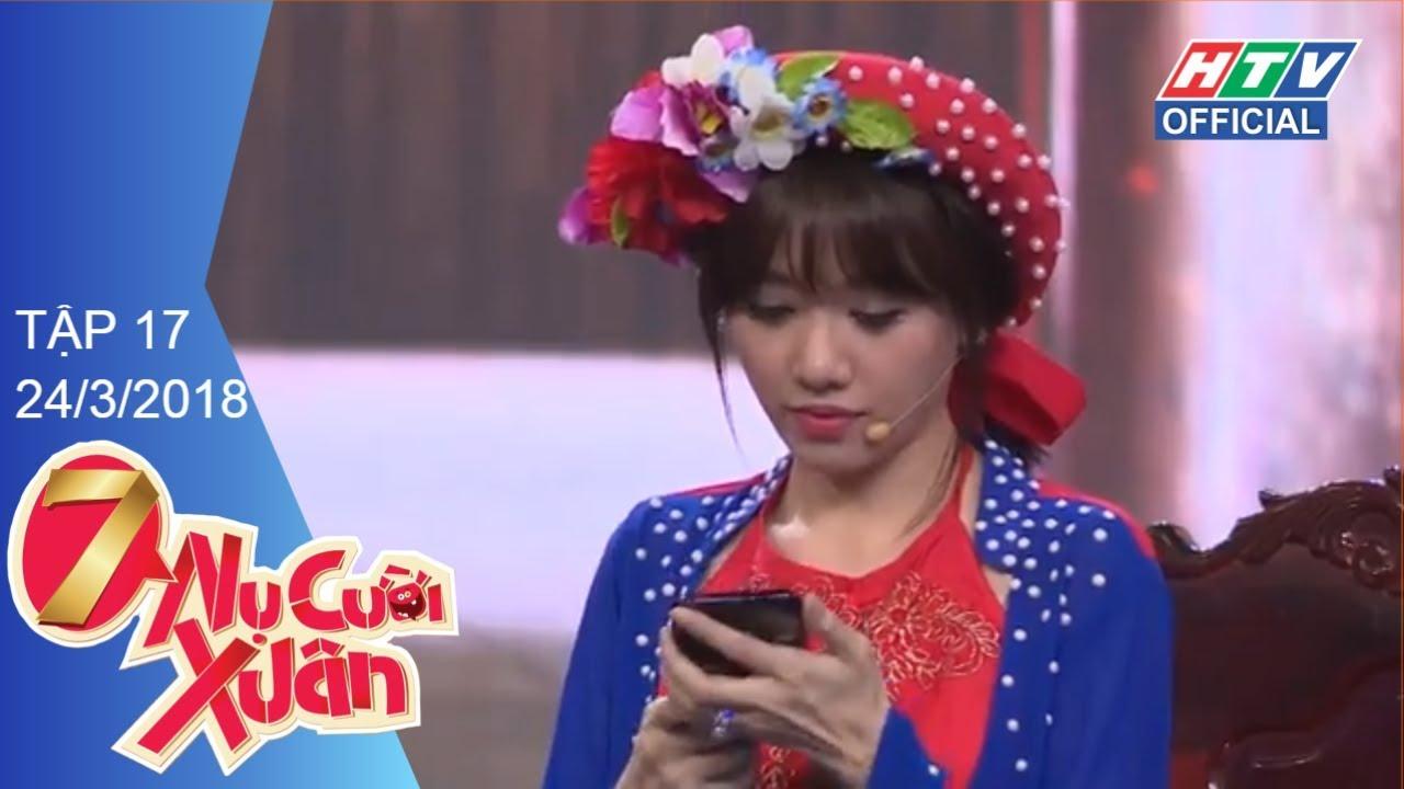 """HTV 7 NỤ CƯỜI XUÂN   Vân Trang """"làm loạn"""" đội hình Bảy Nụ   7NCX #17 FULL   24/3/2018"""