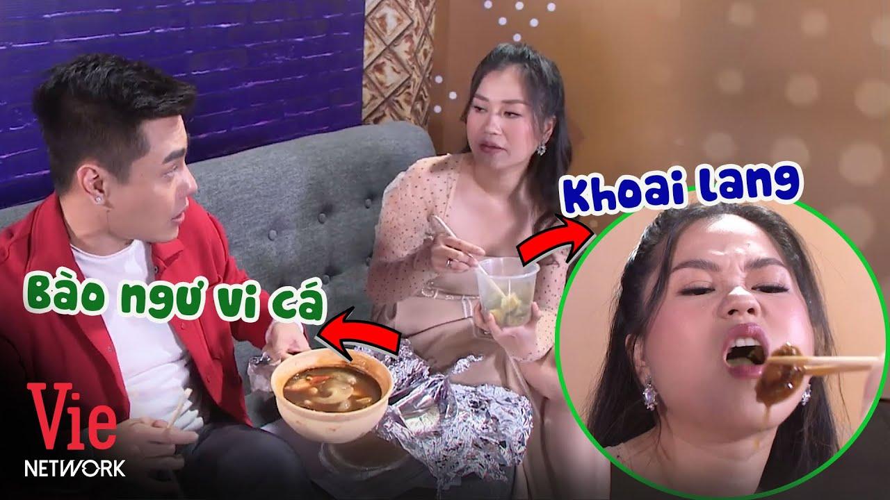 """Dương Lâm nhem thèm Lâm Vỹ Dạ với bữa ăn """"chanh sả"""" toàn bào ngư vi cá"""