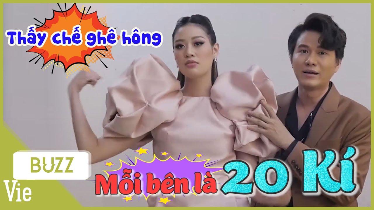 """Hoa hậu Khánh Vân chơi trội sắm nguyên """"bộ đầm cử tạ"""" tham gia show Ca Sĩ Bí Ẩn"""