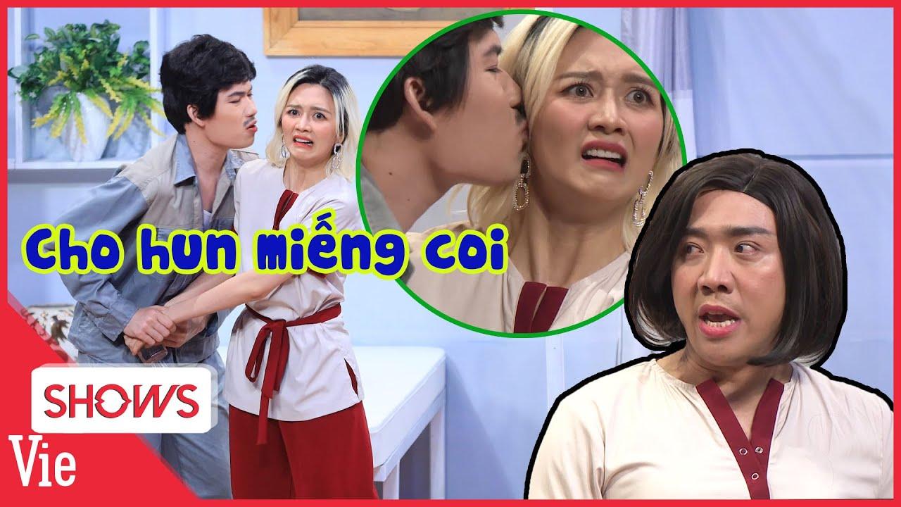 Thiều Bảo Trang tái mặt khi bị Quang Trung cưỡng hôn, Trấn Thành xông vào dằn mặt