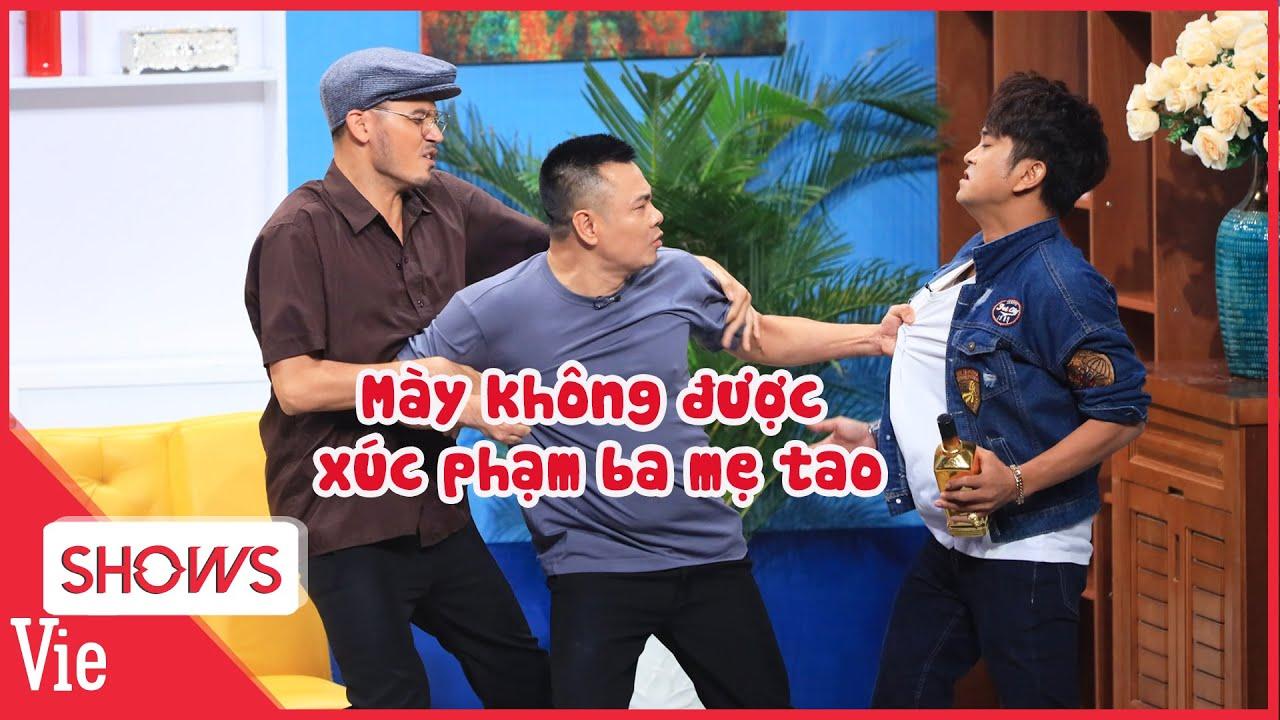 """Anh Tài """"toát mồ hôi"""" khi vừa vào phòng đã thấy Tự Long xông vào đánh Hùng Thuận"""