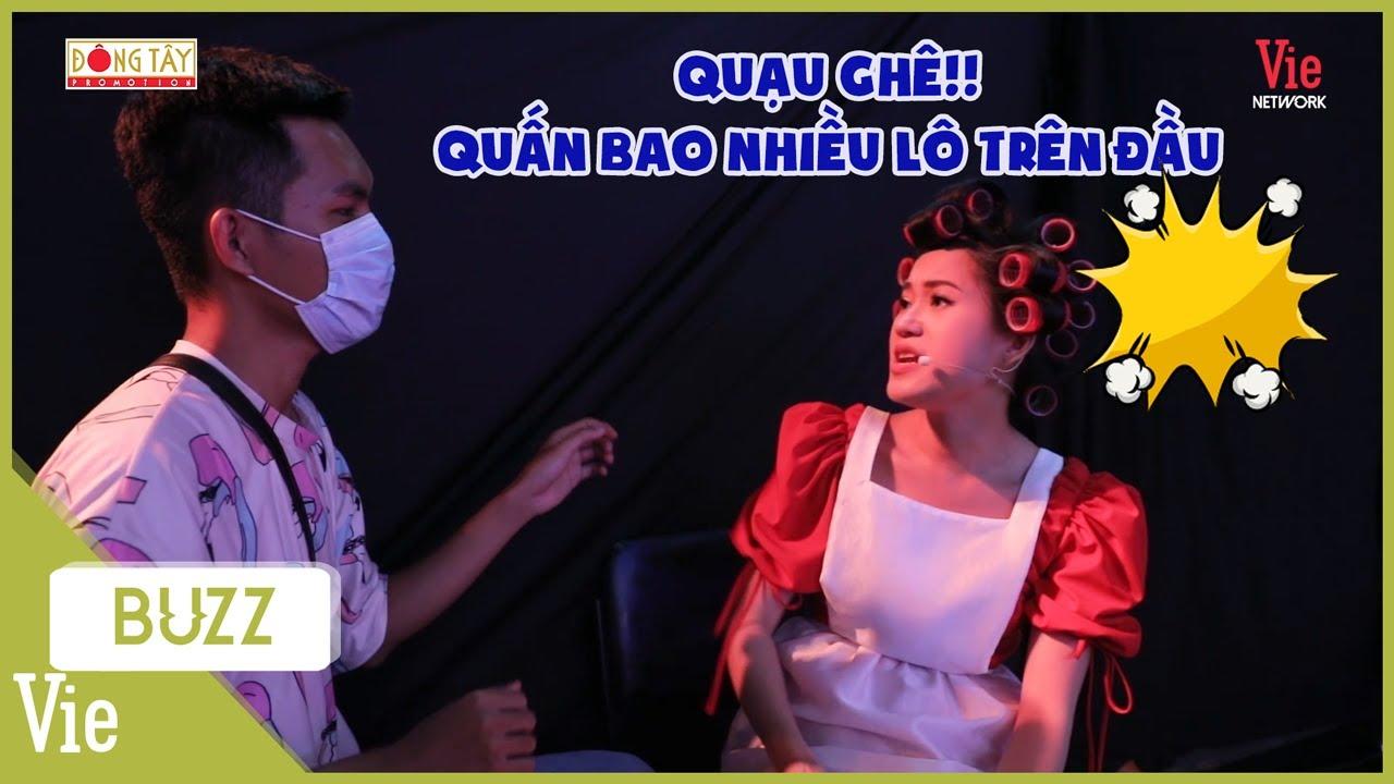 """Lâm Vỹ Dạ nổi quạu vì stylist """"leo trên đầu trên cổ"""", làm quả tóc nặng cả đầu 1 tiếng chưa xong"""
