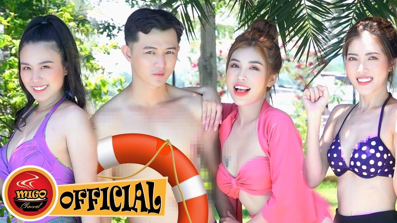 Hot Girl Đại Chiến Hồ Bơi Phần 4   Phim Hài Mới Nhất Ghiền Mì Gõ 2020