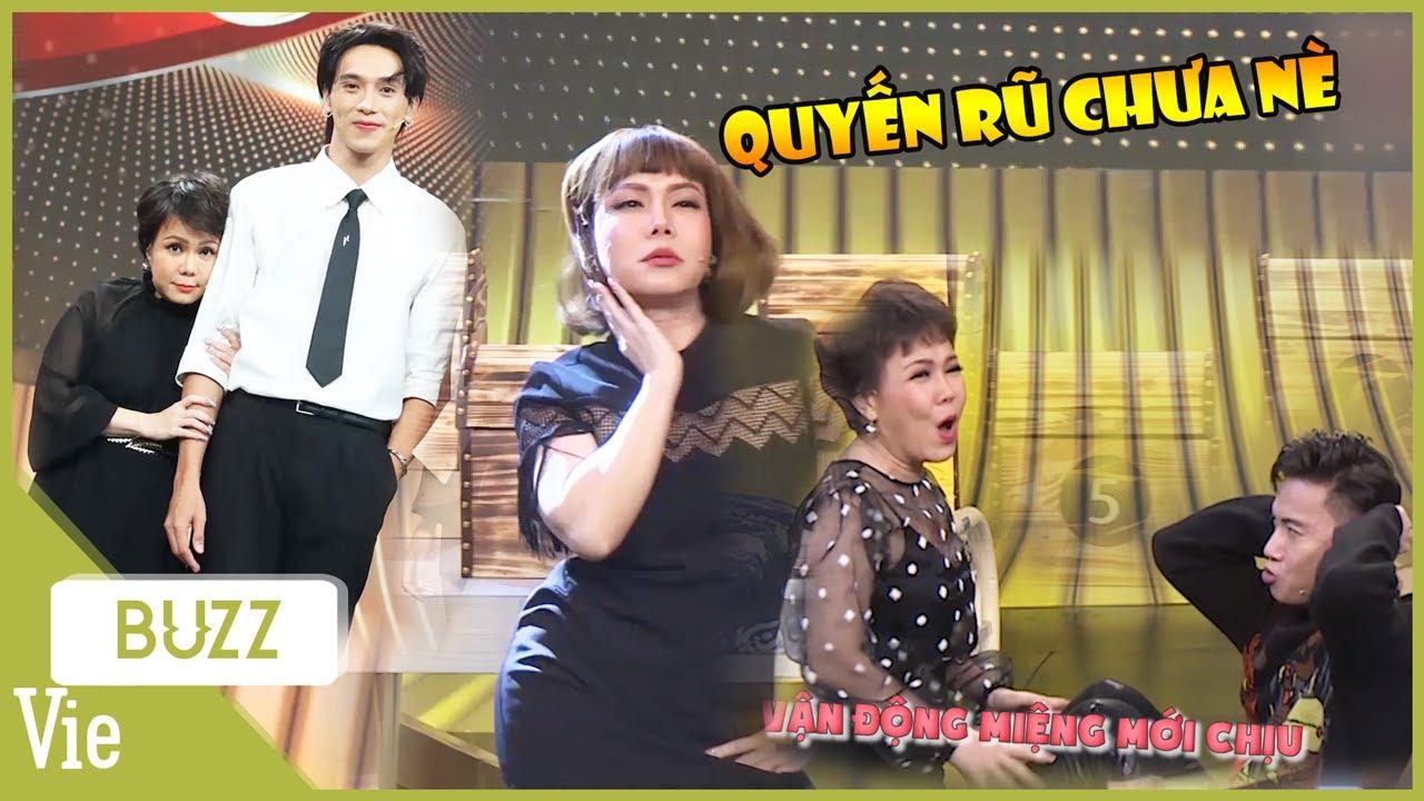 """Việt Hương và 50 sắc thái e thẹn, quyến rũ khi """"tiếp cận"""" với trai đẹp tại Bí Kíp Vàng"""