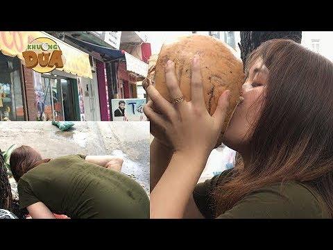 Thách thức Khương Dừa #2: Cô gái xém đi cấp cứu vì lều mình uống dừa để thắng 1 triệu???!!!